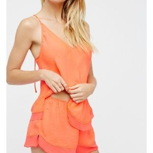 Free people small easy street slip hot pink rose